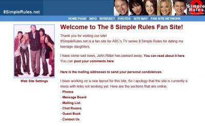 Web Site Graphics I've done in 2003 for: http://8simplerules.net